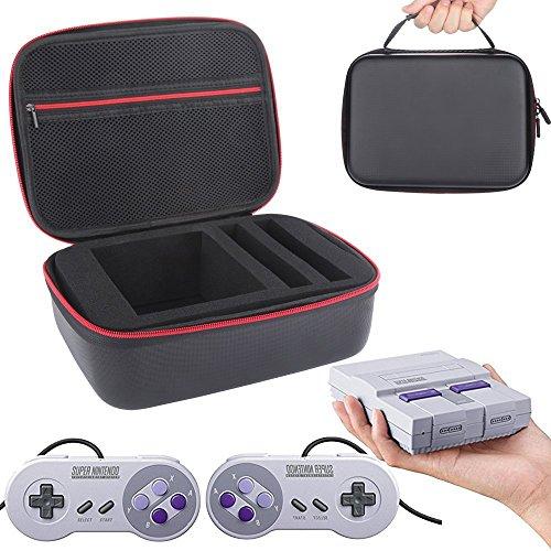 Super NES Classic Mini Fall-cavn Wasserdicht, stoßfest und staubdicht Travel, der Fall für Nintendo SNES Classic Mini Konsole (2017), zwei Controller, HDMI-Kabel und anderes Zubehör -