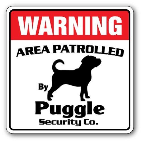 Puggle Sicherheit Schild Bereich 'von Pet Nadia Schilder Hund Inhaber Lover Hundehütte Boarding