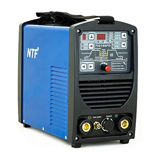 Saldatrice Inverter Professionale IPOTOOLS NTF 160PD saldatrice TIG 160 Amper Unità di saldatura completamente digitale ad inverter con accensione HF | funzione ad impulsi | MMA | IGBT