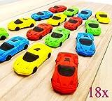 JZK 18 Neuheit Radiergummi Set Rennsportwagen Modell Spielzeug für Kinder Geburtstagsfeierbevorzugungen Werbegeschenke für Kinder Partytaschenfüller Danke Geschenk für Jungen Studenten