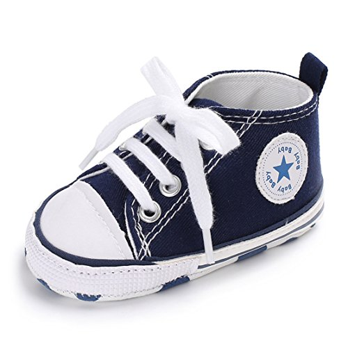 zhenghewyh Baby Sneaker Baby Cute Canvas Kleinkind Schuhe Baby Soft Bottom Schuhe 0-18 Monate (13cm / 5.11inches, Blau)