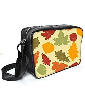 Snoogg gefärbte Blätter Leder Unisex Messenger Bag für College Schule täglichen Gebrauch Tasche Material PU