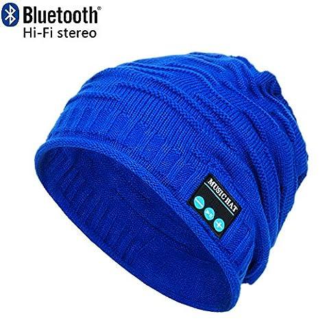 CoCo Fashion drahtlose Bluetooth-Mütze mit Musik phone Freisprech -Stereo-Kopfhörer-Kopfhörer-Lautsprecher-Mikrofon für Fitness Outdoor Sport Wandern Weihnachtsgeschenke (Einheitsgröße, MZ012_ (Earflap Knit Cap)