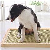PETSOLA Tappetino per Cani Tappetino per Cani Cucchiaio per Animali Domestici Gabinetto per Toilette con Pilastro - caffè