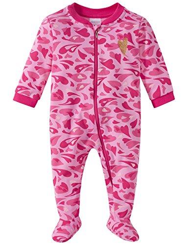Schiesser Baby-Mädchen Zweiteiliger Schlafanzug Anzug mit Fuß, Rot (Rosa 503), 68 (Herstellergröße: 068)