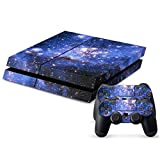 Hibote PS4 Skins Haut Faceplates Sticker/Aufkleber Set für Sony PlayStation 4 Konsole und 2 Remote Controller Night Sky