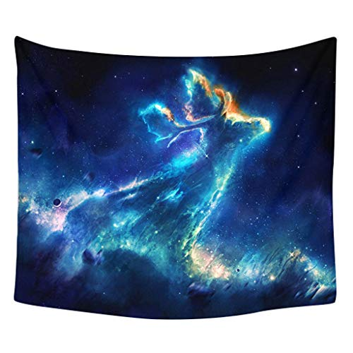 Higlles Wandteppich Psychedelic 130x150cm Sternenhimmel Tapestry Wandbehang Wandtuch Home Decor