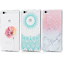 3 x Fundas Huawei P8 Lite 2015 / 2016, KASOS Carcasa para Huawei P8 Lite 2015/2016 Case Silicona TPU Blanda Ultrafina
