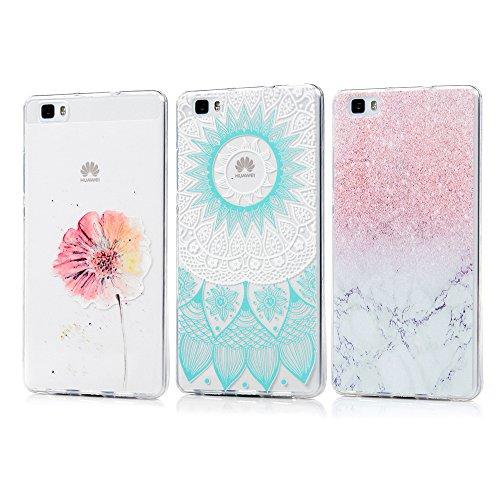 3 x Fundas Huawei P8 Lite 2015 / 2016, KASOS Carcasa para Huawei P8 Lite...