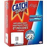 CATCH Set de 2 Plaquettes Anti Insectes Volants Anti Mouches Moustiques/Tigres