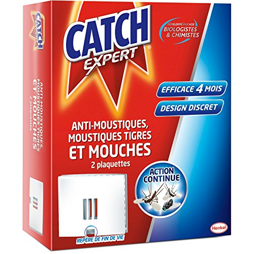 CATCH Set de 2 Plaquettes Anti Insectes Volants Anti...