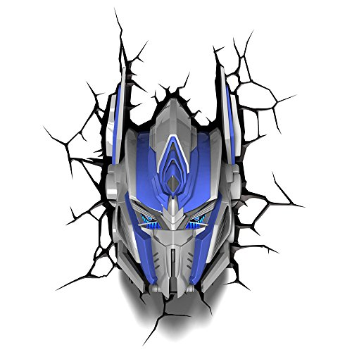 3D Light Fx 3Dfx-84052 Transformers Optimus Prime Lampada Led, Plastica, Multicolore, 23 X 15 X 31 cm
