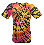 Tie Dye Red / Yellow Flames Spiral 701978 T-Shirt