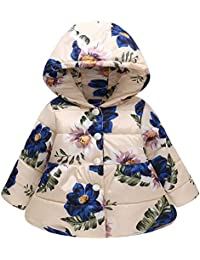 Bekleidung Mädchen (0 -24 Monate) Kobay Babykleidung Mädchen Winter Kleinkind Baby Kids Mädchen Bänder Bow Thick Warm Solid Coat