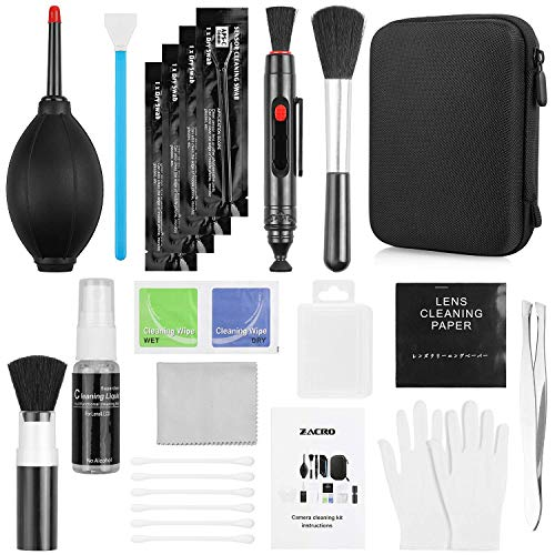 14 Kit Pulizia Fotocamere Professionale per KooKen di pulizia per Obiettivo fotografico obiettivi ottici e fotocamere reflex digitali