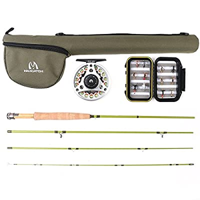 Maxcatch Ultra-lite Fly Fishing Fly Rod Combo, Rod and Reel Outfit: 2wt/3wt (6'6'' 2wt 4pcs) from Maxcatch