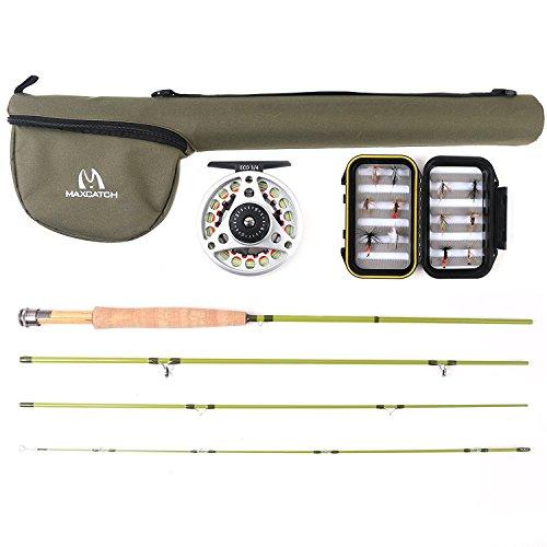 Maxcatch Ultraleicht Fliegenfischen Set Fliegenrute und Fliegenrolle: 2wt/3wt (6'6'' 2wt 4pcs)