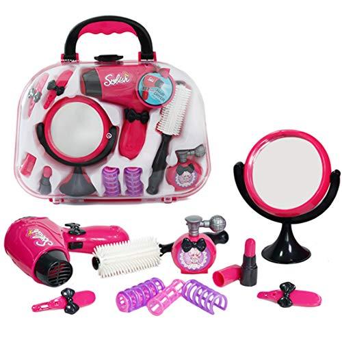 YVSoo 11Pcs Maletin Peluqueria, Maletin Maquillaje Niñas Cosmética y Joyería Juguete Set Princess Juego para Niños Infantil