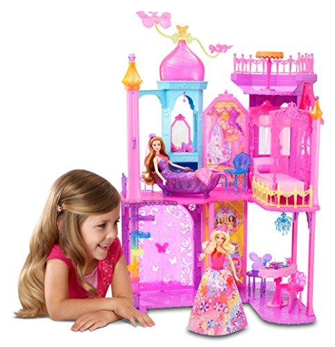 Mattel Barbie BLP42 - Barbie und die geheime Tür Großes Prinzessinnen-Schloss, inklusive Möbel und Zubehör