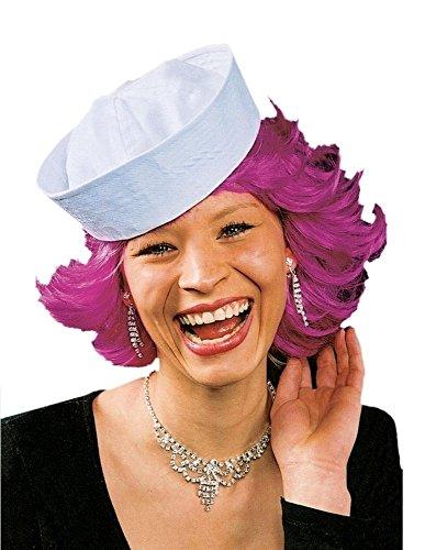 Matrosen-Mütze in weiß | Einheitsgröße Erwachsene | Matrosen-Hut für Faschingskostüm Kostüm Zubehör