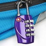 TRIXES 4-stelliges TSA-Vorhängeschloss Zahlenschloss für Gepäck