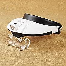 Lychee auricular con banda de cabeza lámpara LED luz joyería lupa lupa lupa