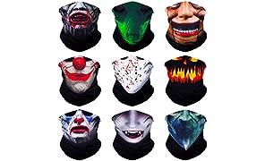 SoJourner Bags Bandanas transparente Face masque bandeau foulard Headwrap Neckwarmer & plus - 12 en 1 multifonctions pour les Festivals de musique