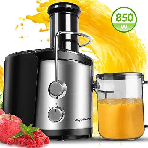Aigostar MyFrappe Black 30IMX - 850W Licuadora semiprofesional para frutas y verduras con dos velocidades...