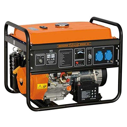 Vinco 60131 Generatore di Corrente Vinco, 2.7 Kw, Nero