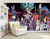 WYH-YW Papier peint 3D Anime Dragon Ball Super Z Salon Chambre Bureau Couloir Décoration Peinture Murale Décor Mural Moderne 200cmx140cm(W×H)