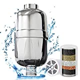 GoZheec High Output Universal Shower Water Filter Softens Hard Water Removes Chlorine Fluoride