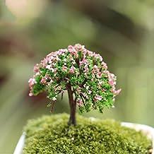 Árbol de plantas en miniatura jardín de hadas adorno maceta decoración 1pieza Happy Tree
