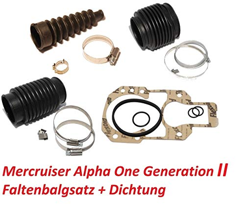 Saarwebstore Faltenbalgsatz Mercruiser Alpha One Gen II Z-Antrieb Service-Kit Bälge