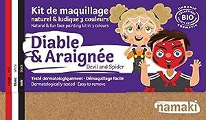 Namaki K3DA19 - Kit de maquillaje para disfraz de niños, unisex, 3 colores, color rojo, blanco y negro