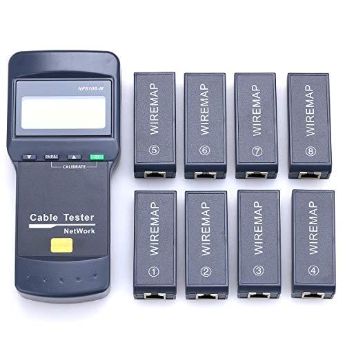 Kelushi NF8108-M Digitaler Netzwerkkabel-Tester, Ferneinheiten Cat5E/6E, UTP, STP, CAT5,RJ45, 8m -