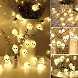 SUPAREE Halloween Dekoration Lichterketten, Laternen Party Home Requisiten Lichterketten 2.8M 16Led Schädel Batteriebetriebene Lichterketten