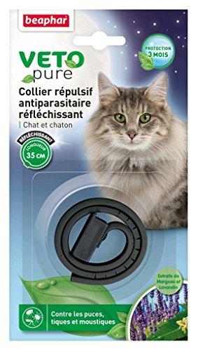 beaphar–vetopure, Halskette Fernhaltemittel gegen Parasiten–Katze und Kätzchen–Beige