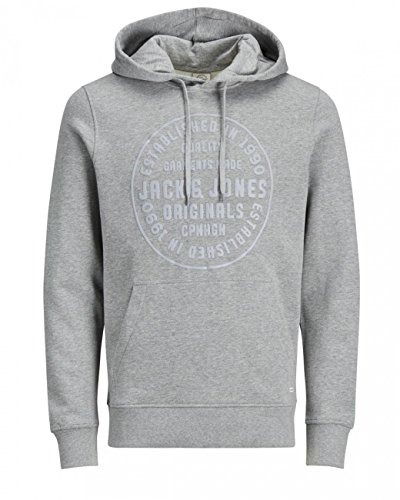 Kapuzen-jack (Jack & Jones Herren Sweater JORSTUDIO SWEAT MIX, Größe:M, Farbe:Light Grey Melange (12128394))