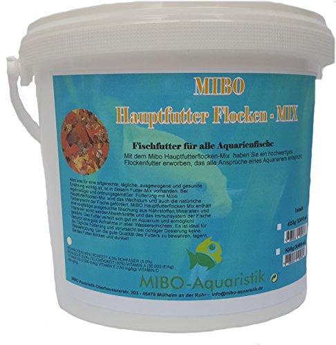 MIBO Flockenfutter 5.000 ml / 850 g Fischfutter Hauptfutterflocke für alle Zierfische
