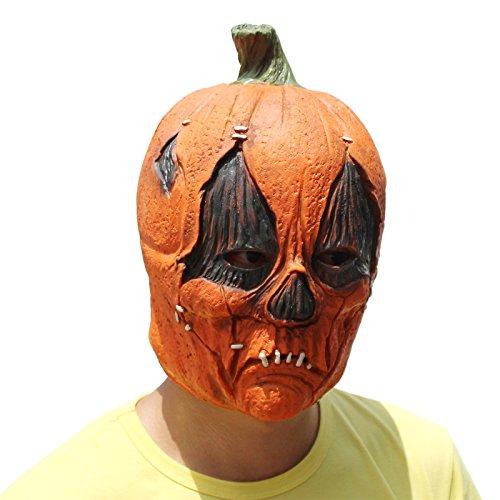 Schablonen Einfache Kürbis (PartyCostume Deluxe Neuheit-Halloween-Kostüm-Party-Latex-verrückte Gemüse-Kopfschablone Masken Kürbis)