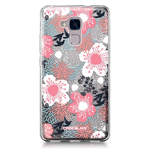 CASEiLIKE® Coque Honor 5C, Japanese Floral 2255, TPU Silicone Soft Housse Etui Coque pour Huawei Honor 5C / Honor 7 Lite / GT3