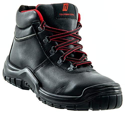 Nitras Arbeitsschuhe Herren S3 Power Step II 7211 - Halbhohe Sicherheitsschuhe Männer mit Zehenschutzkappe HRO SRC Weite 11 Größe 47