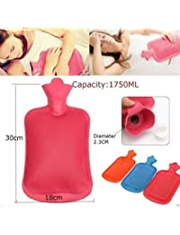 Hot Water Bottle/Bag, One Side Ribbed, Body Heat Massage- Multicolor