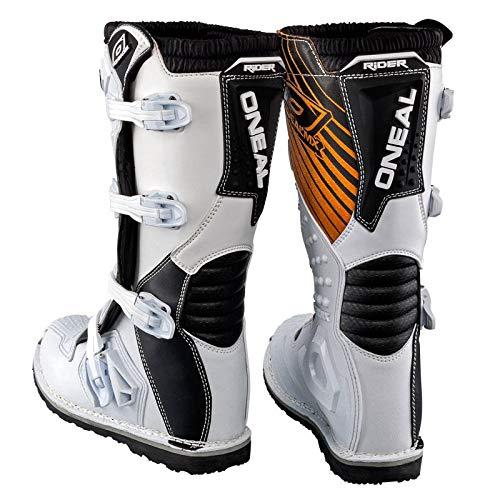 O'Neal Rider Boot MX Stiefel Weiß Moto Cross Enduro Motorrad, 0329-2, Größe 46 - 2