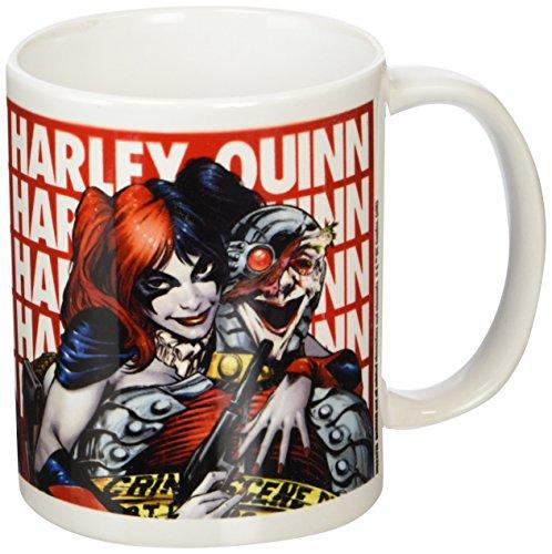 Batman Taza de cerámica DC Comics con diseño de Harley Quinn, Multicolor