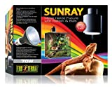 Exo Terra SunRay Reptile Metal Halide Bulb and Holder 70 Watt Uva Uvb Heat All in 1