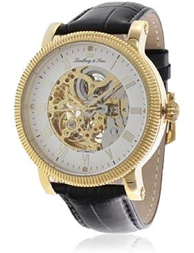 Lindberg&Sons Herren-Armbanduhr Analog Automatik Leder CO5590185A