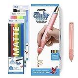 3Doodler 8CPSPKEU3E Create+ 3D-Druck Pen-Set mit 75 Filamenten, 600 Fuß Extrudierter Kunststoff, Flamingo Rosa