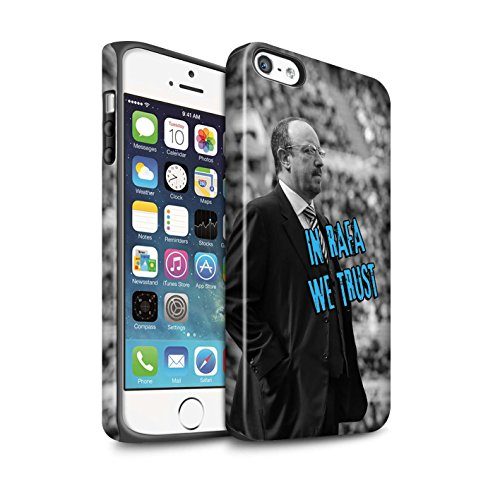 Officiel Newcastle United FC Coque / Matte Robuste Antichoc Etui pour Apple iPhone SE / Pack 8pcs Design / NUFC Rafa Benítez Collection Nous Avons Confiance
