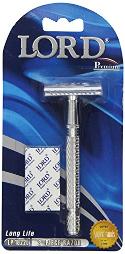 Braun Razor Blades (Lord Premium Double Edge Safety Razor, 1er Pack (1 x 1 Stück))